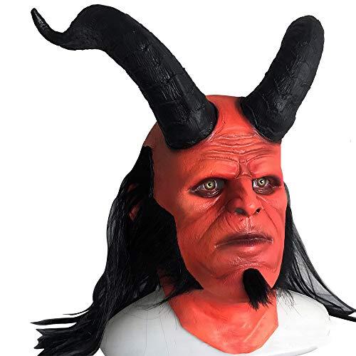 HYMZP Halloween Maske, Adult Hell Baron Cosplay Kopfbedeckungen, Party Thriller Mask Dress Up Requisiten Latex,B (Sexy Adult Krankenschwester Kostüm)