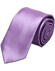 Simple et chic pour homme Business Liens Cravate formelle avec boîte cadeau, Violet Clair