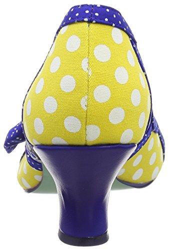 Scelta Lilla giallo Femme Escarpins Multicolore Irregolare Per Scuoterlo Poetica Licenza vqE16