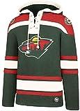 47 Brand Minnesota Wild NHL Lacer Hoody Jersey Trikot Kapuzenpullover Forty Seven