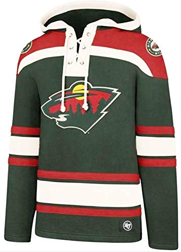 47 Brand Minnesota Wild NHL Lacer Hoody Jersey Trikot Kapuzenpullover Forty Seven -