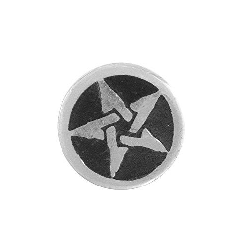 Alchemy Gothic paio di pentanoir Stella Pentagramma In Peltro e smalto orecchini a perno-taglia unica