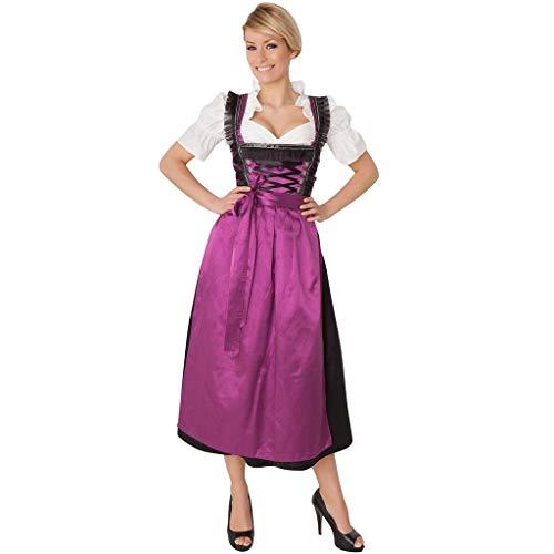 Innerternet Frauen 2 Stück Oktoberfest Costume Bavarian Beer Girl Dirndl Tavern Solid Casual Style Zipper Concealed Maid Dress Bierfest Cosplay - 50er Jahre Girl Für Erwachsene Damen Kostüm
