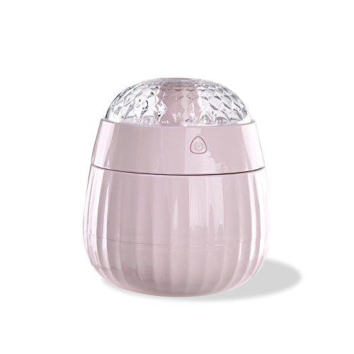 KEZIO Befeuchter Vaporizer, LED-Farben-Anzeige-Projektor-Luftbefeuchter für Haus, Schlafzimmer (Farbe : Rosa)