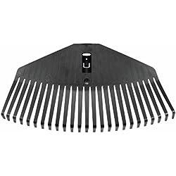 Fiskars Tête de balai à gazon livrée sans manche, 25 dents, compatible avec le Manche Fiskars Solid, Largeur : 41,5 cm, Dents en plastique, Noir, M, Solid, 1014914