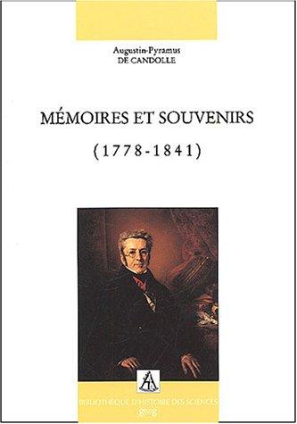 Mémoires et souvenirs (1778-1841)