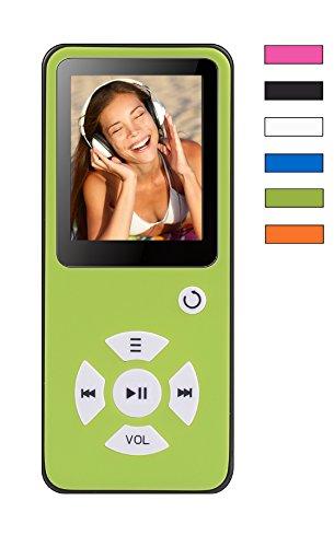 BERTRONIC BC01 Royal MP3-Player mit Kopfhörer ★ Bis 100 Stunden Wiedergabe ★ Farbdisplay ★ Radio | Portabler Player mit Lautsprecher | Audio-Player für Sport mit Micro SD-Kartenslot