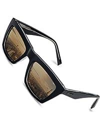 2800c1fc10 Aiblii Women Men Wayfarer Gafas de sol con lentes reflectantes espejadas  Protección UV400 Gafas de sol