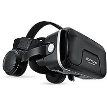 3D VR HAMSWAN G04EA Lunette de Réalité Virtuelle Casque Réglable avec 120 Degrés Compatible pour iPhone/ Samsung et Autres Smartphone 4.0 à 6.0