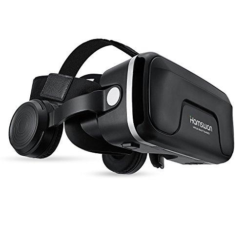 3D VR Brille, HAMSWAN G04EA 3D VR Briller Virtual Reality Gläser mit eingebautem Headset 120 Grad...