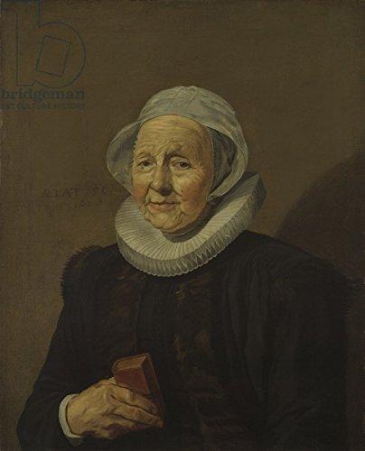 """Alu-Dibond-Bild 70 x 90 cm: """"An Old Lady, 1628 (oil on canvas)"""", Bild auf Alu-Dibond"""