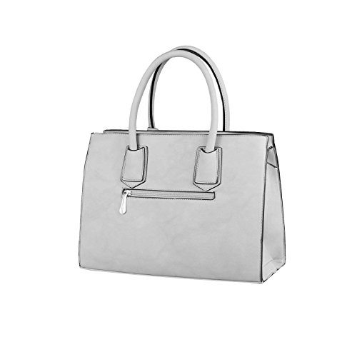 OBC Only-Beautiful-Couture, Borsa a mano donna bianco bianco ca.: 35x26x15 cm (BxHxT) Grau-Camel