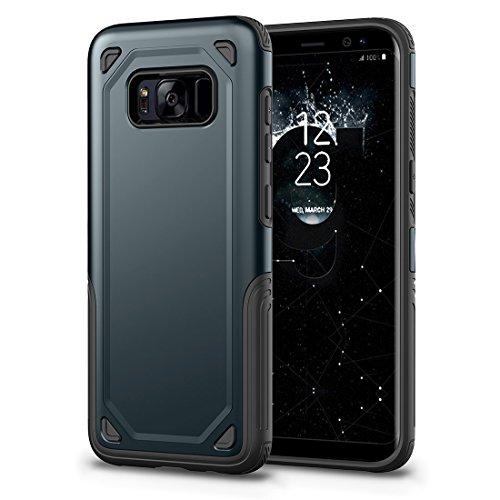 HHF Cases & Covers Für Samsung Galaxy S8 Stoßfest Robuste Rüstung Schutzhülle (Color : Navy Blue) -