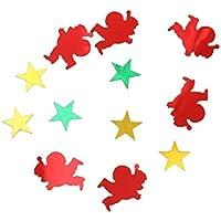 Natale Confetti Coriandoli A Forma Di Babbo Natale Alberi Cervo Stella Decorazioni Partito Tavolo - Babbo Natale, 12 x 16mm