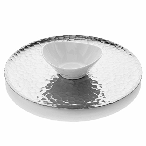 Wendell August Forge Waterfall Chip and Dip Tray, Silver by Wendell August Forge Chip Und Dip Tray