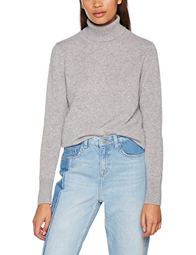 United Colors of Benetton Damen Turtle Neck Sweater Sweatshirt, Grau (Grey Melange 501), Medium