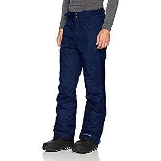 Columbia Men's Ski Trousers, Bugaboo Omni-Heat, Nylon, Blue (Collegiate Navy), Size: XL