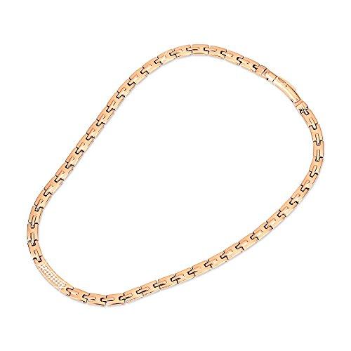 MASALING Magnetische Halskette Für,Rose Gold Halskette Für Titan Magnetfeld Arthritis Schmerzlinderung Anti Schnarch Schmerzen Müdigkeit Gliederschmerz - Unisex