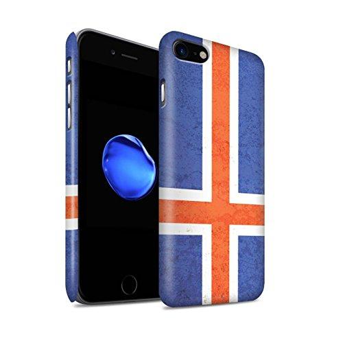 STUFF4 Matte Snap-On Hülle / Case für Apple iPhone X/10 / Australien/australisch Muster / Flagge Kollektion Island/Isländisch