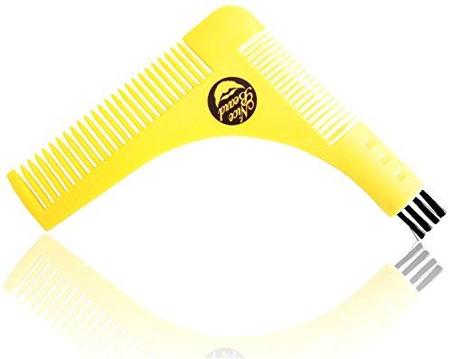 ⭐Peigne à barbe NICEBEARD⭐ - Traçage parfait des contours en moins de 2 minutes ! - Solide et robuste - 10x11cm - Avec brosse de nettoyage - Efficace pour entretenir sa barbe - Facile d'utilisation