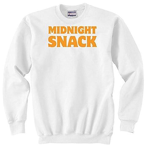 Midnight snack funny college life slogan Unisex Sweater XX-Large