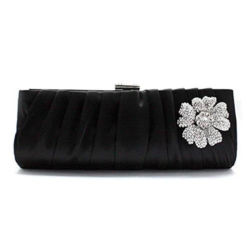 Lady Bag Cena Cosmetici Di Telefonia Mobile Del Sacchetto Della Signora Frizione Della Borsa Di Seta Fogliame Signore Black