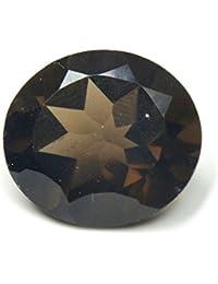 Caratyogi Naturel Pierre précieuse de quartz fumé rond 5carats véritable Courroie pour la confection de bijoux de qualité AAA
