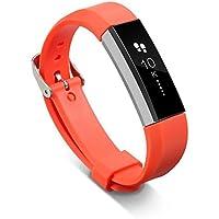 Armbanduhr Band, happytop Silikon Armband mit Schnalle Armband Handgelenk Armbanduhr Ersatz für Fitbit Alta Armband