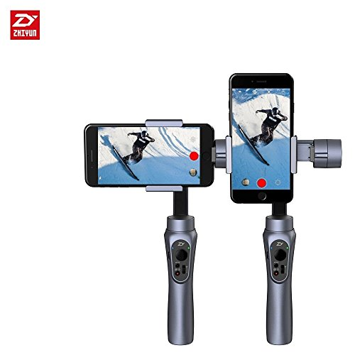Great Buy for Zhiyun Smooth Q + Remote, 3-Axis Handheld Gimbal Stabilizer for Smartphone Like IPhone 7 Plus 6 Plus Samsung Galaxy S7 S6 S5 Wireless Control Vertical Shooting Panorama Mode (Zhiyun Smooth-Q Black) Review