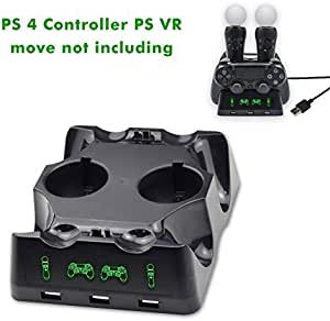 PS 4 / PS VR Docking Station, Dual Docking Station PlayStation 4 / PS 4 / PS VR Move Controller for Sony PlayStation4 / PS4 Pro / PS VR / PS4 VR