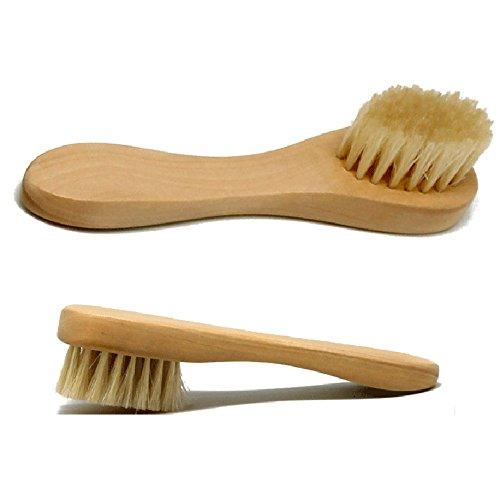 Hrph Holzgriff Wildschwein Bürste Gesichts-Bürste mit Naturborsten Holz Hand - Skincare & Spa Produkte