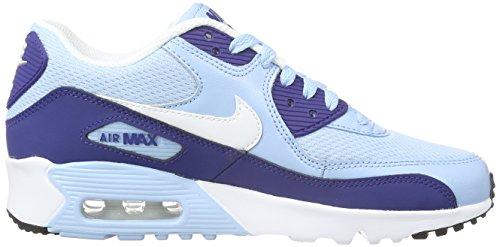 Nike Air Max 90 Mesh (Gs), Scarpe da Corsa Donna Blu (Phlox/white/flash Coral)