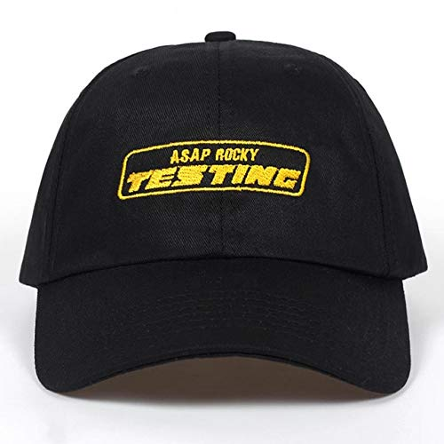 Neue Album ASAP Rocky Testing Stickerei Baseball Cap Frauen Hysteresenhut Einstellbare Kappe Männer Mode Papa Hüte Großhandel