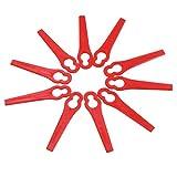 Clode  10Pcs Falciatrice da Giardino in plastica per rimpiazzi di plastica per Erba di Ricambio