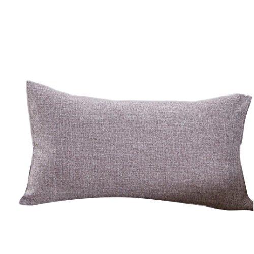 Farbe Kissen 30x 50cm, vneirw Bett Sofa Kissenbezüge Werfen Kissen Displayschutzfolie, grau, 30cmx50cm (Faux-pelz-luxus-werfen)