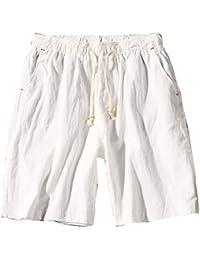 Pantalones Cortos De Playa Hombre Chino Pantalones De Lino Cargo Bermuda  Shorts Comodidad Transpirable Tallas Grandes ee0dc9c3a0df