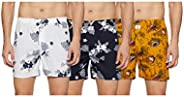 Longies Men's Printed Cotton Boxers (Pack o