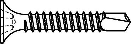 Dresselhaus Gipsplattenschrauben mit Bohr- spitze, Trompetenkopf-H CE-konform, 3,5 x 35 mm, phosphatiert, 1000 Stück