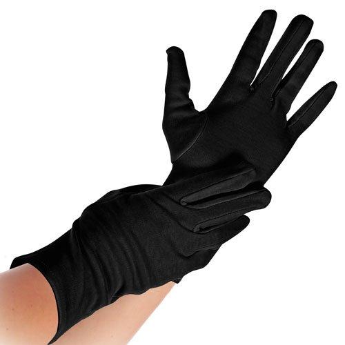 Baumwoll-Arbeitshandschuh, Schutzhandschuhe, Baumwollhandschuhe, schwarz, S, M, L, XL, Größe:L - Pack