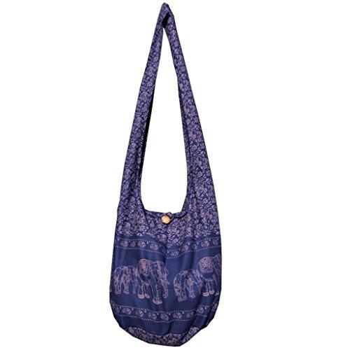Panasiam Bolso bandolera, 2 tamaños, diseños modernos y muchos colores, con material interior extra y bolsillo interior para móvil, calidad de primera azul marino 52