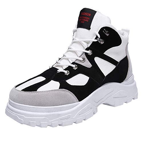 Hombre Botas de Nieve Senderismo Impermeables Deportes Trekking Zapatos  Forro Piel Sneakers Negro Marrón Khaki d85b3c0b183e4