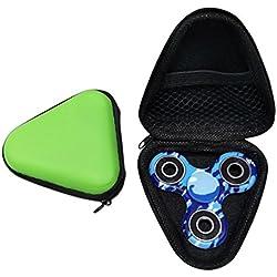 Luomike-Fidget Spinner, Fidget Hand Spinner Triángulo dedo juguete EDC Focus ADHD autismo bolsa Caja paquete de caja (Verde)