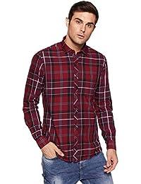KILLER Men's Checkered Slim Fit Casual Shirt