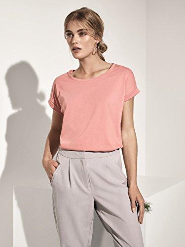 Vila Vidreamers Pure Noos, T-Shirt Femme Rose (Rose Dawn Rose Dawn)