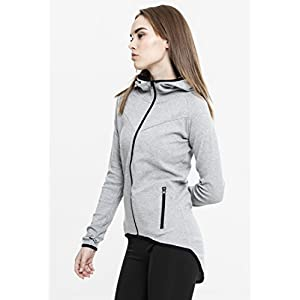 Urban Classics Damen Ladies Athletic Interlock Zip Hoody Kapuzenpullover