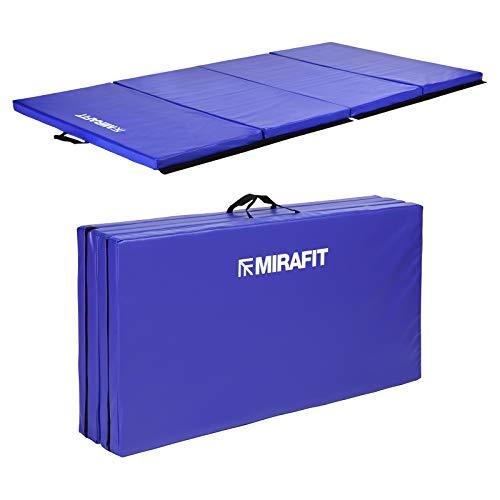 Mirafit große, zusammenklappbare Übungsmatte, 240cm - Blau