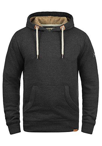 SOLID TripHood Pile Herren Kapuzenpullover Hoodie Sweatshirt mit Teddyfutter aus hochwertiger Baumwollmischung Meliert, Größe:M, Farbe:D Gre Pil (P8288)