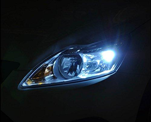 INION® XENON WEISSE Standlicht Standleuchte 2 x W5W T10 mit 9-SMD KALT - WEISS * CANBUS * STANDLICHT Positionslicht KFZ Autolampe soffite