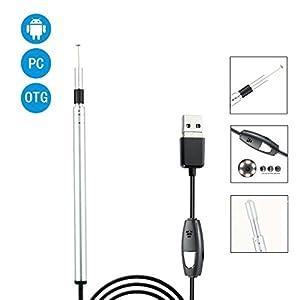 MZ Ohr-Endoskop-Augen-Ohr-Löffel-Ohr-Spekulum-justierbares LED-Licht 5.5mm Ohr-und Nasen-Reinigungs-2 in 1 Schnittstelle