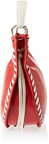 Chicca Borse Damen 8701 Schultertasche, 35x28x12 Cm Rosso (red Beige)